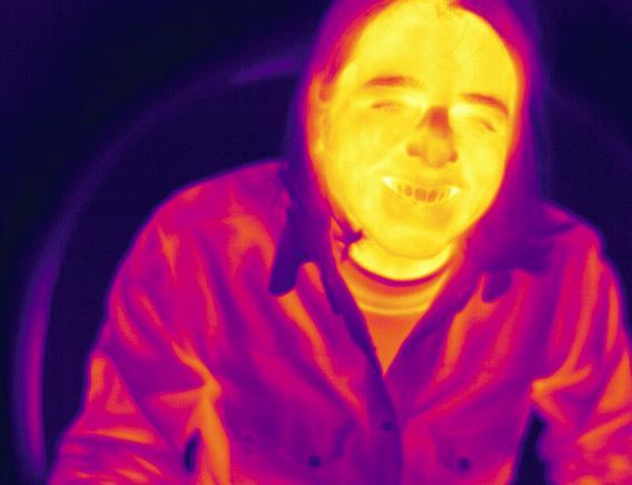 磁场强度3特斯拉时的热图像