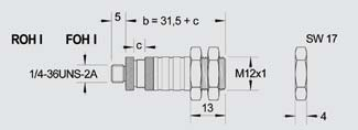 德国DIAS小型光纤探头FOH-I-100,尺寸M12x1